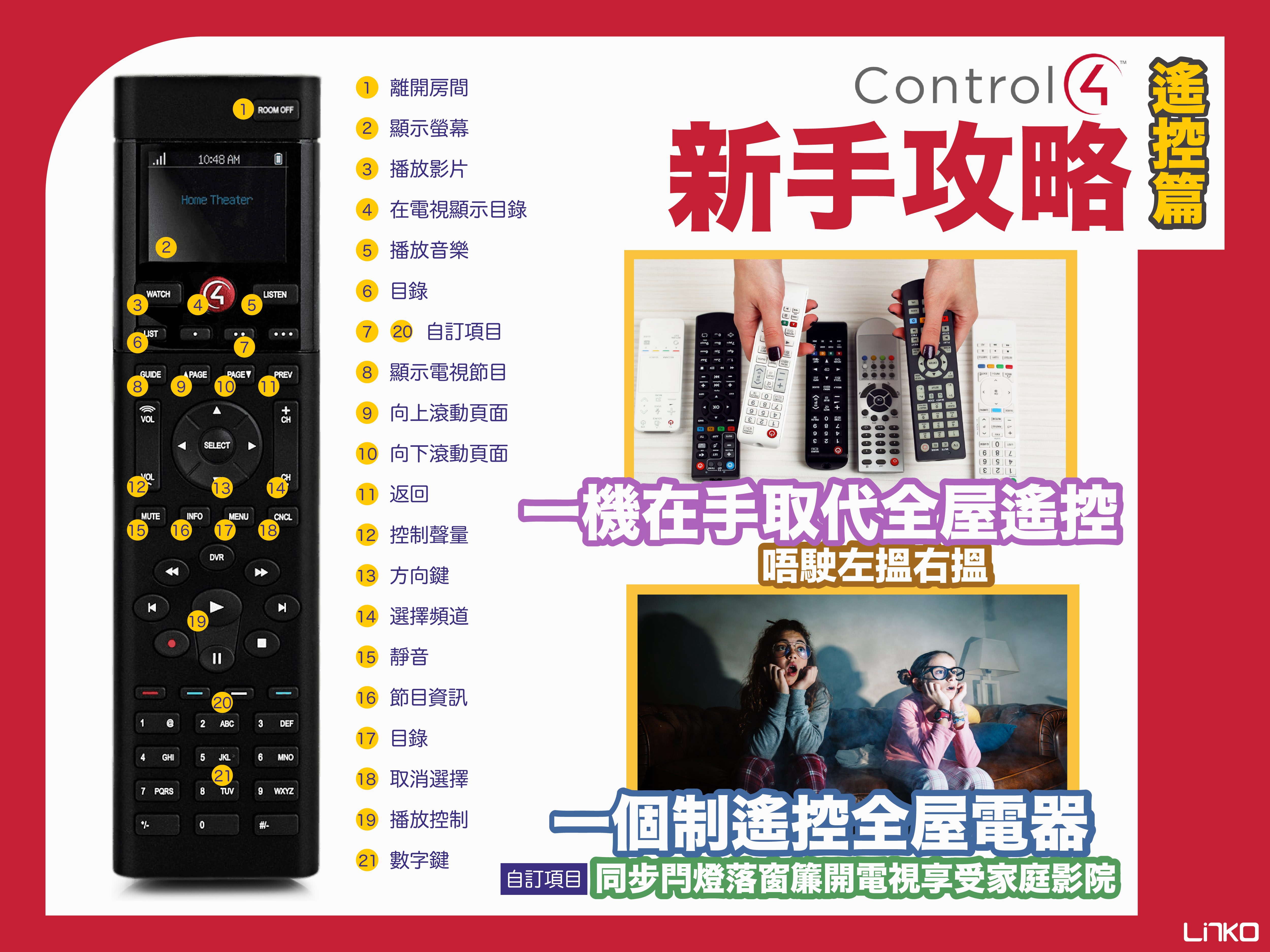 【Control4】新手攻略|遙控篇(Chinese Version Only)