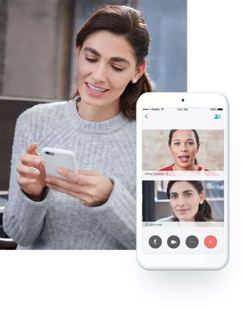 Linko_Cisco WebEx_Video meeting by mobile phone