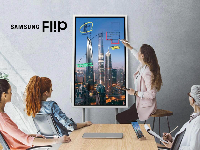 Samsung Flip Interactive Whiteboard Transforms the Modern Meeting